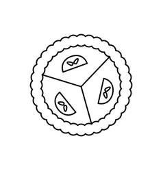 sweet dessert pie line icon sign vector image