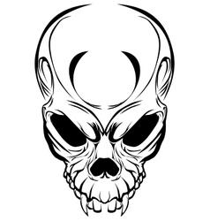 Wicked skull vector image vector image