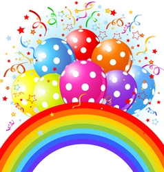 14balloons rainbow001 vector image