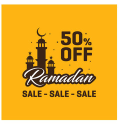 50 off ramadan kareem sale banner template vector