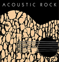 Acoustic rock vector