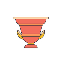Ancient amphora icon cartoon style vector