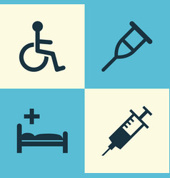 antibiotic icons set collection of disabled vector image