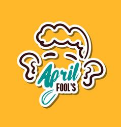 april fools man vector image