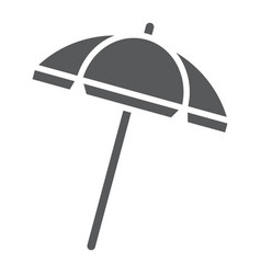 beach umbrella glyph icon travel and parasol vector image