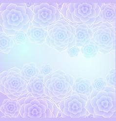 beautiful purple blue rose flower background vector image