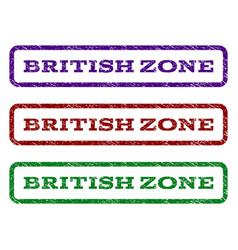 british zone watermark stamp vector image