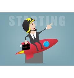 Business start vector image