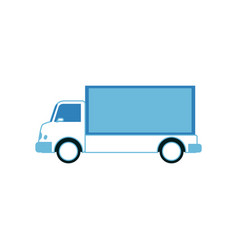 cargo and shipping white truck with blue trailer vector image