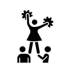 cheerleading black glyph icon vector image