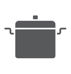 cooking pan glyph icon kitchen and cooking vector image