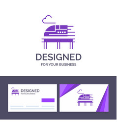 Creative business card and logo template train vector