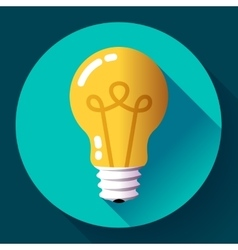 Creative idea in light bulb shape as inspiration vector image