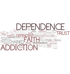 Dependence word cloud concept vector