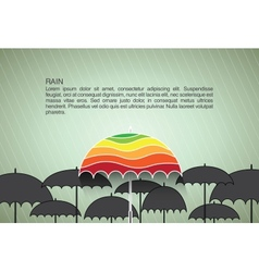 design template with umbrellas Background vector image