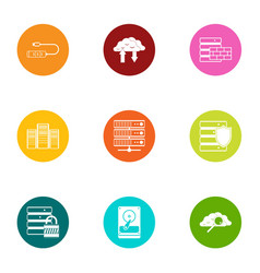 Discharge icons set flat style vector