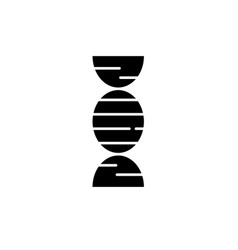 dna black icon sign on isolated background vector image