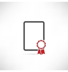 empty badge icon red vector image