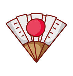 fan accessory japanese cartoon isolated icon vector image