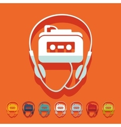 Flat design music player vector image