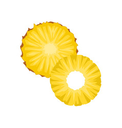 flat icon of two round slices of ripe vector image