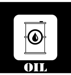 gasoline barrel symbol vector image