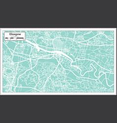Glasgow scotland city map in retro style vector