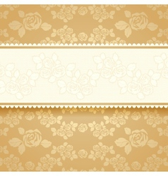 Golden roses with background Square vector