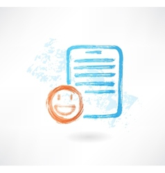 Good document grunge icon vector image