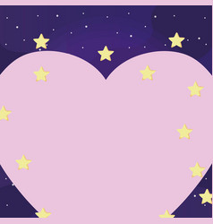 heart and stars design vector image