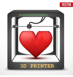 Heart transplant 3D printer for the internal vector image