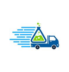 Lab delivery logo icon design vector