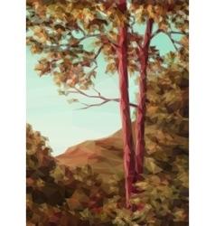 Landscape Autumn Trees vector image
