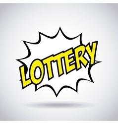 Lottery casino game icon vector