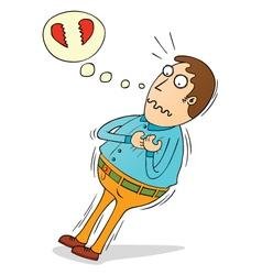 Man having heart attack vector image