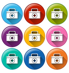Medical box icons vector image