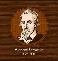 michael servetus vector image