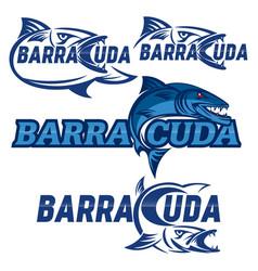 Modern barracuda logo vector
