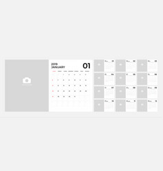 modern calendar for 2019 template vector image