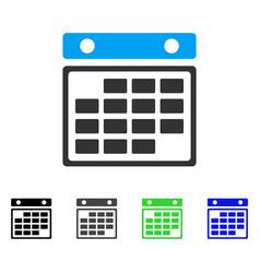 month calendar flat icon vector image