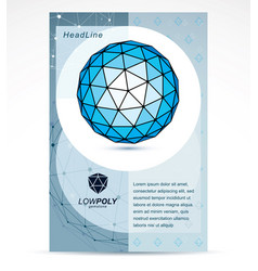 new technology theme booklet cover design front vector image