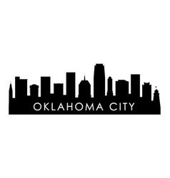 Oklahoma city skyline silhouette black oklahoma vector