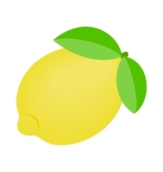 One ripe lemon icon vector image
