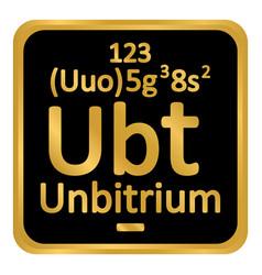Periodic table element unbitrium icon vector
