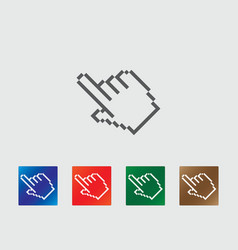 Pixel finger point icons vector