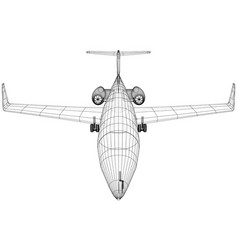 Plane wireframe concept created vector