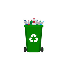 plastic waste bin icon clipart template vector image