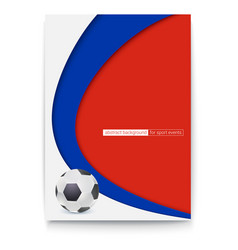 Poster of football or soccer 2018 world vector