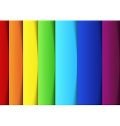 Rainbow lines - new banner template vector image