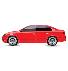 Red Sports Sedan vector image vector image